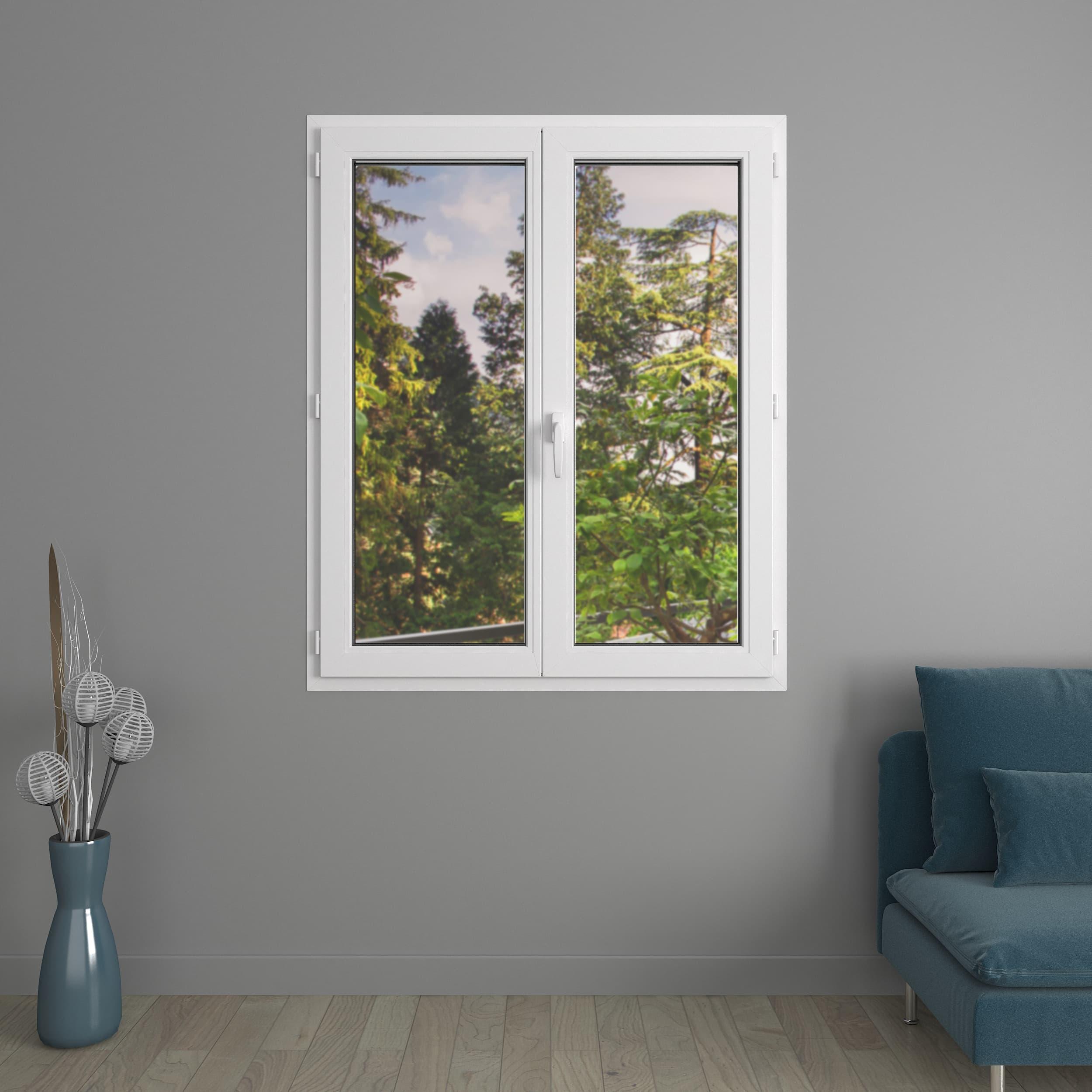 Fenêtre 2 vantaux PVC Liberté avec volets roulants monoblocs