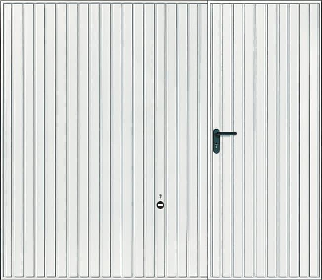 Porte de garage basculante avec rail et portillon intégré