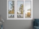 Fenêtre 3 vantaux PVC   Gamme Audace