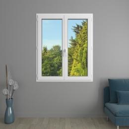 Fenêtre 2 vantaux PVC avec volets roulants monoblocs