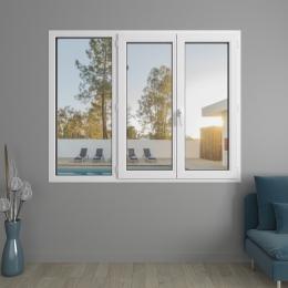 Fenêtre 3 vantaux PVC Liberté avec volets roulants monoblocs