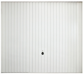 Porte de garage basculante avec rail nervures verticales