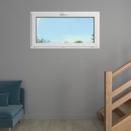 Fenêtre chassis à soufflet PVC prestige